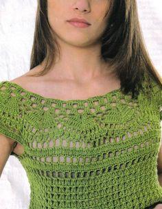 BLUSAS Y TUNICAS PARA TEJER A CROCHET | Patrones Crochet, Manualidades y Reciclado