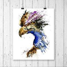 EAGLE PRINT, eagle art, eagle watercolour, golden eagle, american art, eagle painting, bird art, bird watercolour, bird painting, bird print