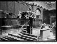 Derniers préparatifs de l'élection présidentielle à la salle du Congrès à Versailles, 9 janvier 1920
