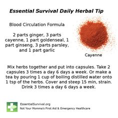 Dr. Christopher's Blood Circulation Formula helps keep the circulation system healthy.