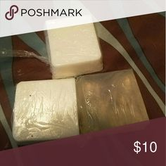 Organic homemade soap ? Made by me. All natural,  organic soap made with young living essential oils...perfect for people who are health nuts like me, people with allergies or sensitive skin and GREAT for people who have had breast cancer and gone through radiation....All 3 bars for $10. Other