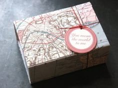 Vintage Map Box from @etsy wedding seller DSharp