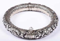 925 Solid Sterling Silver Bangle Nice Rajasthan Traditional Desing 57 mm JSBG-40 #Handmade #Bangle