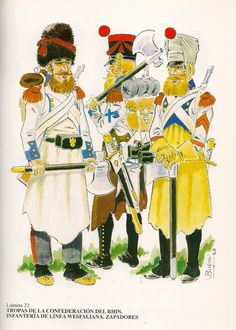Westphalia; Line Infantry Sappers on service in the Peninsula