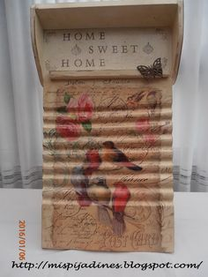 Mis pijadines: Tabla de lavar y bandeja... Ideas Paso A Paso, Collage, Chalk Paint, Diy And Crafts, Decorative Boxes, Sweet Home, Shabby Chic, Cool Stuff, Home Decor