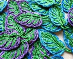 crochet leafs                                                                                                                                                      More