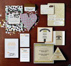 Bold wedding invitation ideas from Wisconsin Bride featuring the Fidelia design by Jamie Lea Bertsch for Bella Figura
