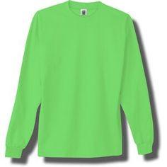 Opentip.com: Custom Neon Green Adult Long Sleeve T-shirt, Price/piece