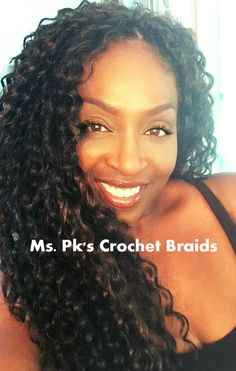 Hi Ladies! What a wonderful, carefree, long length crochet braid style that Deborah wears is wearing it well! We used 4 packs of freetress deep twist to give her this install that should last her weeks. Hair installed by Ms. PK of Ms. Pk's Crochet B Curly Crochet Hair Styles, Crochet Braid Styles, Curly Hair Styles, Natural Hair Styles, Black Girls Hairstyles, Twist Hairstyles, African Hairstyles, Crotchet Braids, Crochet Braids Hairstyles