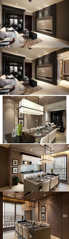 Modern Contemporary Interior Design_Taiwan_by Fantasia_interior: Fantasia Interiors, Dining Rooms, Contemporary Interior Design, Home Interiors, Contemporary Interiors Design, Interiors Design Taiwan...