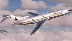 Another example of Mexicana's Aztec Gold 727-100 used in FSX simulator.