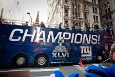 I was there walking it by accident (the cops wouldn't let me out of it) NY Giants Super Bowl Victory Parade in lower Manhattan. #nyg