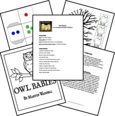 Owl Babies Author: Martin Waddell Illustrator: Patrick Benson ISBN: 0763617105 Level 1 unit and video by Robin Diedrichs Owl Classroom, Science Classroom, Classroom Ideas, Owl Babies, Baby Owls, Owl Crafts, Preschool Crafts, Book Activities, Infant Activities