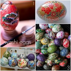 fantastic tutorial on beautiful paper covered eggs.  i might try this with some cheap drug store plastic eggs... :-)