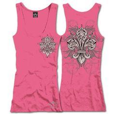 "Fresh & fun for summer - LEAF FLEUR DE LIS Tank Top $25.00 + FREE shipping when you enter the coupon code ""PINTEREST"" during checkout online. #fleurdelis #LSU #LA #madeinusa #fashion"