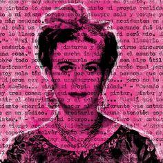 Martina Rall – Talking to Frida Kahlo – Pink, 2015, © www.lemonframe.com   Lemon Frame