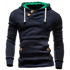 2016 New Arrival Spring Autumn High Fashion Men's Casual Hip Hop Long Sleeved Slim Solid Pullover Hoodie Sweatshirt Black/Gray Mode Masculine, Hoodie Sweatshirts, Sweat Shirt, Costume Slim, Pull Sweat, Pulls, Mens Fashion, Fashion Brand, High Fashion