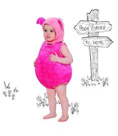 Kids Piglet Winnie The Pooh Bodysuit Costume With Hood xoxo 953c37ab3389