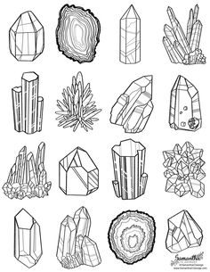 free coloring page from gem line art by samantha c george - free . - free coloring page from gem line art by Samantha C George – free coloring page from gem line art - Free Coloring Pages, Printable Coloring Pages, Coloring Books, Colouring, Doodle Art, Crystal Drawing, Doodles, Book Of Shadows, Art Inspo