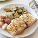 Mahi Mahi with Citrus vinagrette.. Looks easy, and healthy and it is all easy ingredients I already have! Making this tomorrow!