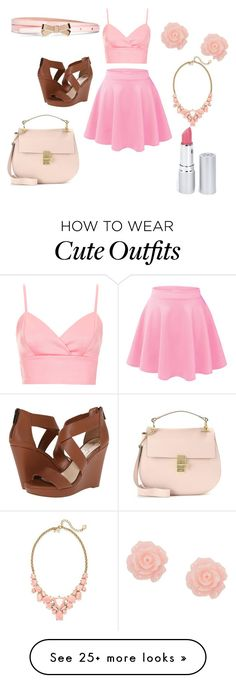 """Cute summer outfit"" by darb97 on Polyvore featuring Jessica Simpson, Topshop, Kate Spade, Brooks Brothers, Chloé and HoneyBee Gardens"