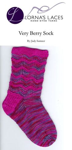Very Berry Socks in Lorna's Laces Shepherd Sock | Knitting Patterns | LoveKnitting
