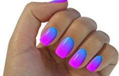 Uñas decoradas con esponja, uñas decoradas de colores con esponja.  Follow! #manicuracolores #colornailart #uñaslindas