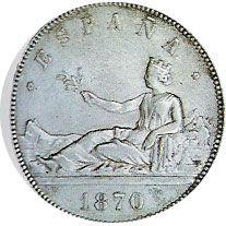 05 Pesetas. (1870)(*18-70) Madrid SN M - MBC