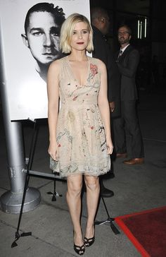 ae44cd07b3db Kate Mara Attends  Man Down  Premiere in Christian Louboutin  Cagouletta   Pumps