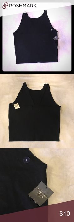🎁FLASH SALE! NWT Abercrombie Crop Top! NWT brand new with tags Abercrombie & Fitch black crop top! Abercrombie & Fitch Tops Crop Tops