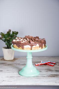 Ciasto z czekoladkami Kinder Cake, Pies, Kuchen, Torte, Cookies, Cheeseburger Paradise Pie, Tart, Pastries