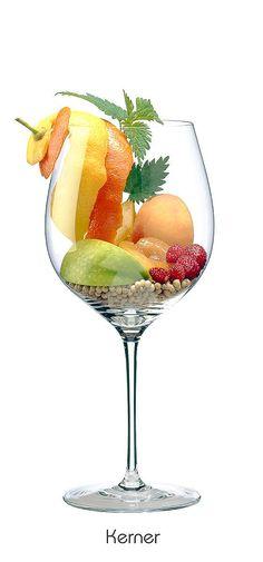 Orangen (Schale), Zitronen (Schale), Aprikose, Pfirsich, Apfel (grün), Walderdbeere, Pfeffer (weiß)