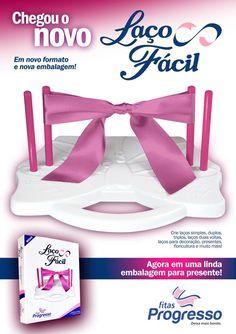 Chegou o novo LAÇO FÁCIL com pinos ROSA, em novo formato e embalagem para presente! A partir do dia 14/01 nas lojas.