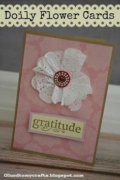 Doily Flower Cards