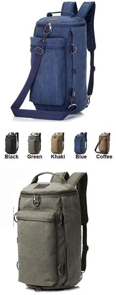 Which color do you like? Retro Camping Backpack Large Bucket Travel Outdoor Rucksack Multifunction Gym Shoulder Bag Canvas backpack #backpack #shoulder #Bag #canvas #outdoor #travel #backpack