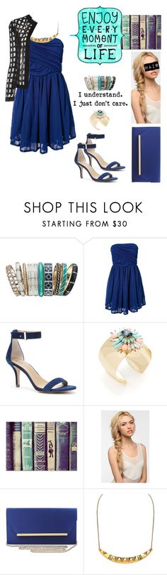 """""""blue is the new me ;)"""" by lifeinpictures ❤ liked on Polyvore featuring Accessorize, Jeane Blush, Ann Taylor, Leslie Danzis, Eva NYC, BCBGMAXAZRIA, House of Harlow 1960, Pièce d'Anarchive, pretty and Blue"""