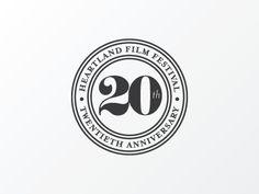 20th Anniversary seal for Heartland Film Festival