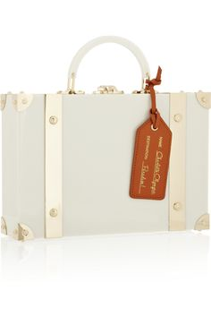 Charlotte Olympia|Excess Baggage Perspex clutch|NET-A-PORTER.COM