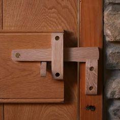 Handcrafted solid oak suffolk latch set