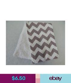Baby Bibs & Burp Cloths Grey Chevron Burp Cloth - 1 Only Towelling Back Great Gift Idea!! #ebay #Home & Garden