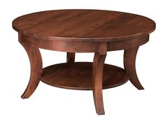 """With it's curved legs and elegant design, the Madison Round CoffeeTableis a true wonder in any room. Featured with a 1"""" top."""