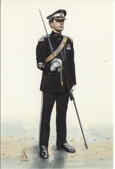 Alix Baker Postcard - AB14/6 Regimental Sergeant Major, 17th/21st Lancers, 1991
