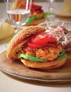 Best Burger Recipe, Burger Recipes, Salmon Recipes, Fish Recipes, Seafood Recipes, Dog Food Recipes, Cooking Recipes, Healthy Recipes, Kitchens