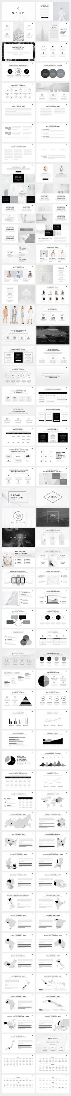 Neue Minimal PowerPoint Template by SlidePro on @creativemarket