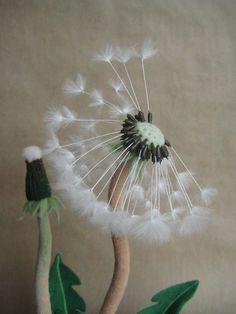 Needle-felted dandelion