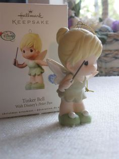 Hallmark Tinker Bell Disney Precious Moments Ornament 2010 Peter Pan for sale online Tinkerbell Wallpaper, Tinkerbell And Friends, Tinkerbell Disney, Peter Pan And Tinkerbell, Tinkerbell Party, Peter Pan Disney, Disney Fairies, Disney Fun, Walt Disney