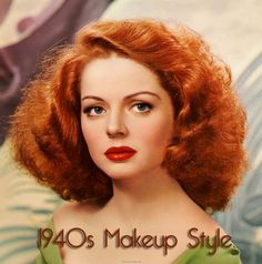 1940s makeup-looks--red hair