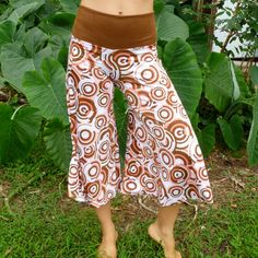 Brown & Pink Dial Pirouette Pants by Feistyattire on Etsy, $50.00