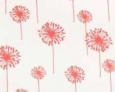 """Premier Prints  fabric Dandelion Coral, Girly Blue, Turquoise, Grey Gray, Lime-54"""" wide 1 yard yardage decorator fabric FAST SHIPPING on Etsy, $10.00"""