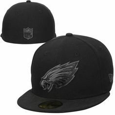 New Era Philadelphia Eagles Basic 59FIFTY Fitted Hat - Black Gray 6eafd5810